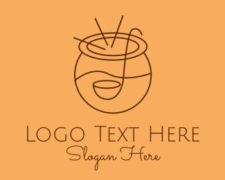 Juice Bar - Juice Punch Bowl logo design