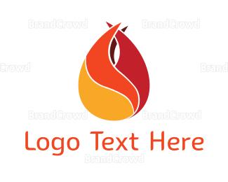 Burn - Sharp Flame logo design