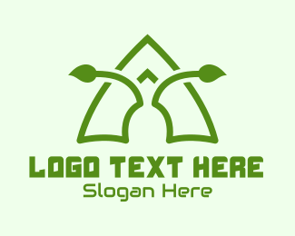 Antenna - Eco Antenna Leaf logo design
