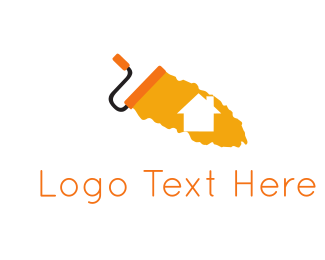 Home Improvement - Home Paint Roller logo design
