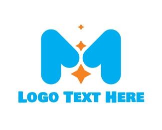 Pediatrician - Cute Star M logo design
