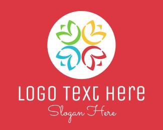 Friends - Colorful Flower Community logo design