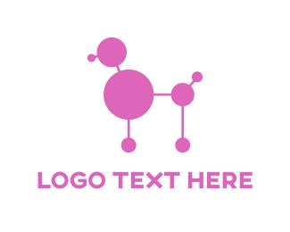 Molecule - Lab Poodle logo design