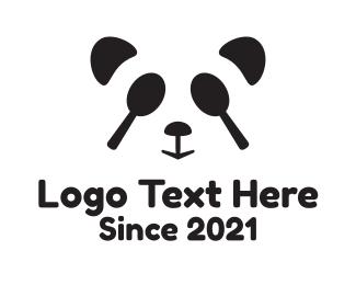 Spoon - Black Panda Spoon logo design