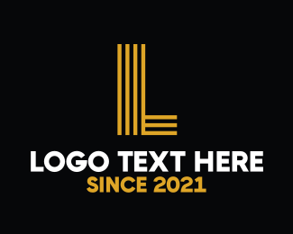 La - Yellow Letter  logo design