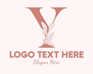 Aesthetics - Elegant Leaves Letter Y logo design