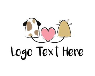 Puppy - Pet Love logo design