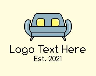 Furniture - Modern Sofa Furniture logo design