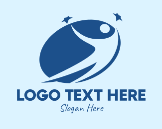Society - Blue Star Person  logo design