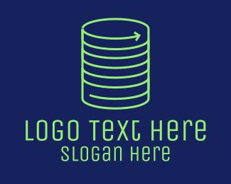 Coin - Coin Server Stack logo design