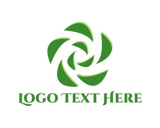 Flower Shop - Green Flower logo design