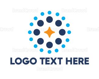 Popular - Dotted Star logo design