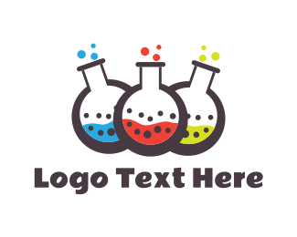 Toxic - Colorful Chemistry logo design