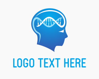Research - Brain DNA logo design