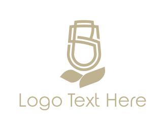 Letter S - Floral Letter S logo design