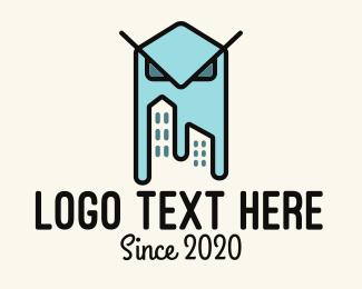 Hall - Owl City Property Building logo design