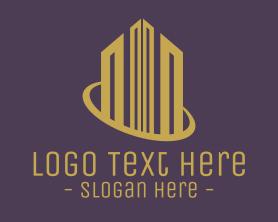 Town - Corporate Real Estate Building logo design