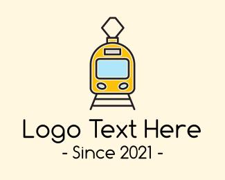Train - Electric Bullet Train logo design