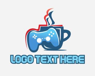 Youtube - Gaming Cafe logo design