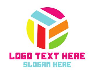 Company - Modern Rainbow Circle logo design