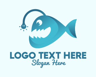 Ocean Park - Happy Angler Fish  logo design
