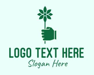 Flower Delivery - Green Flower Delivery logo design