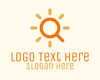 Search Engine - Solar Sun Magnifying Search logo design