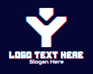 Static - Static Motion Letter Y  logo design