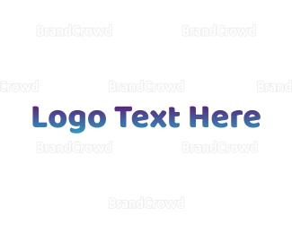 Newborn - Cute Blue Gradient logo design