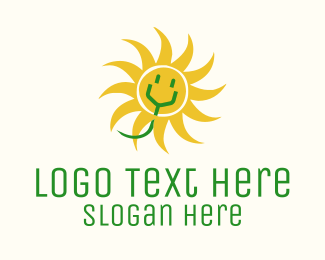 Sustainable Energy - Solar Electrical Power  logo design