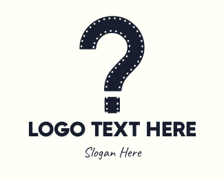 Video Recording - Film Question Mark logo design
