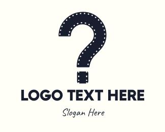 Question - Film Question Mark logo design
