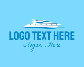 Sea Vessel - Blue Super Yacht logo design