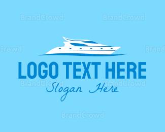 Water - Super Yacht logo design