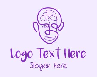 Creativity - Human Face Doodle  logo design