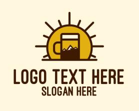 Sunrise - Sunrise Mountain Beer logo design