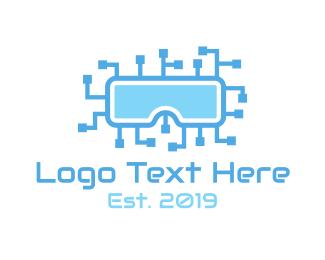 Circuit - Circuit VR logo design
