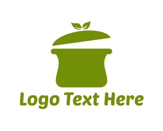 Pan - Green Pot logo design