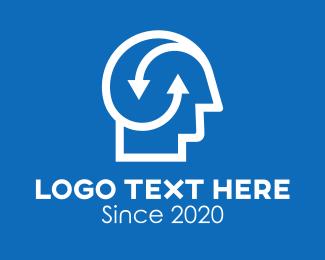 Brainstorming - Human Mind Arrows logo design