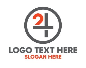 Channel - Monogram Number 24 logo design