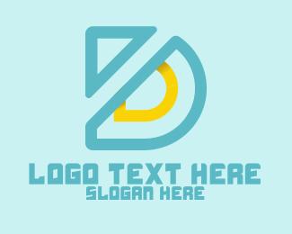 Outlines - Modern Letter D logo design
