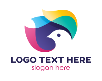 Peace - Colorful Dove logo design