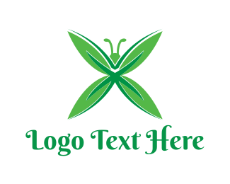 Butterfly - Green Butterfly logo design