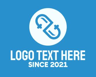 Blue Medical Drugstore logo design
