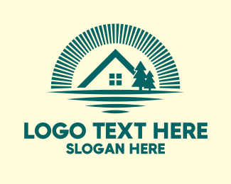 Forest Cabin House Logo
