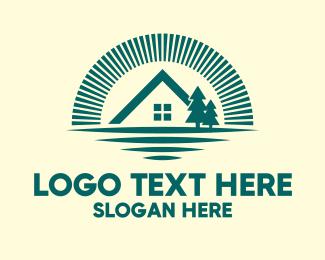 Hut - Forest Cabin House logo design