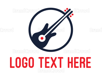 Rock Band - Bass Guitar Band logo design
