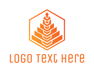 Polygon - Orange Tree Polygon logo design
