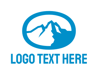 Blue Oval - Blue Mountain Oval logo design