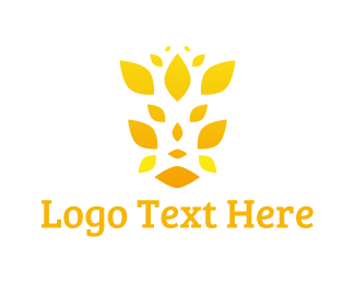 Petal - Yellow Petals logo design